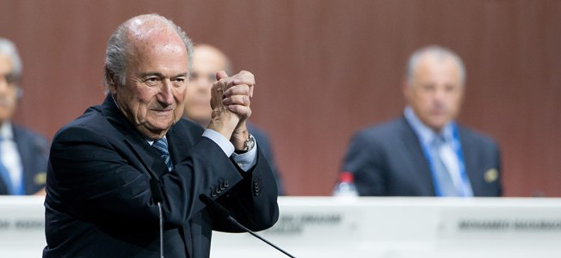 FIFA President Blatter re-elected to a fifth term