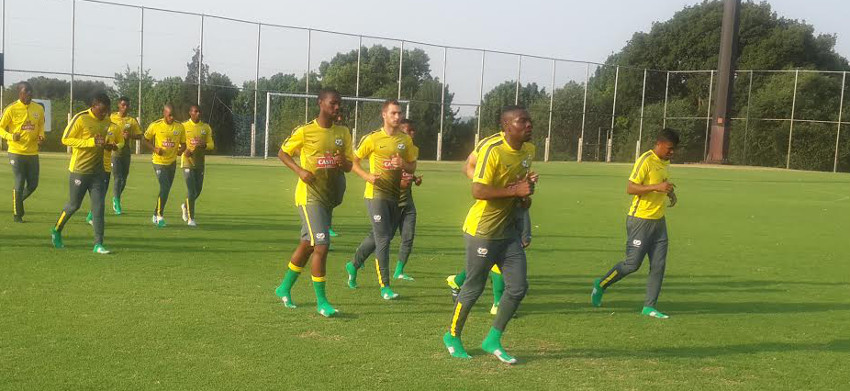 Full compliment of Bafana Bafana CHAN squad on first day
