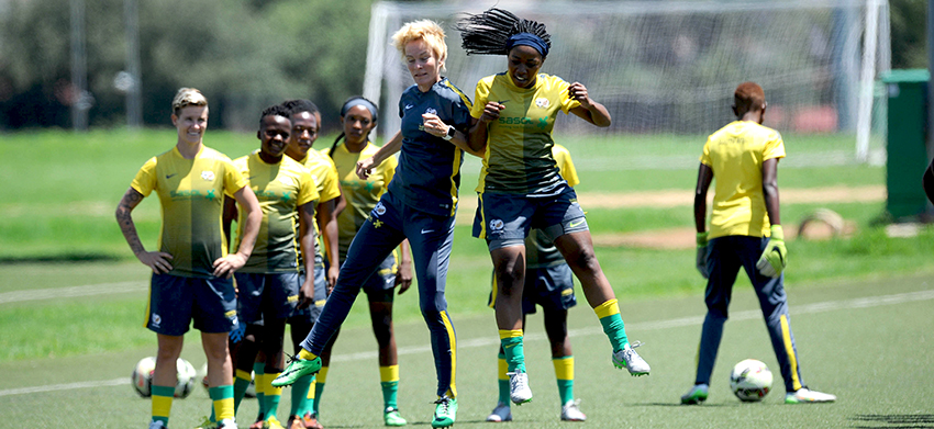 Banyana Banyana sweat it out in preparation for the Olympics