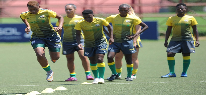 Banyana Banyana sweat it out in preparation for Rio