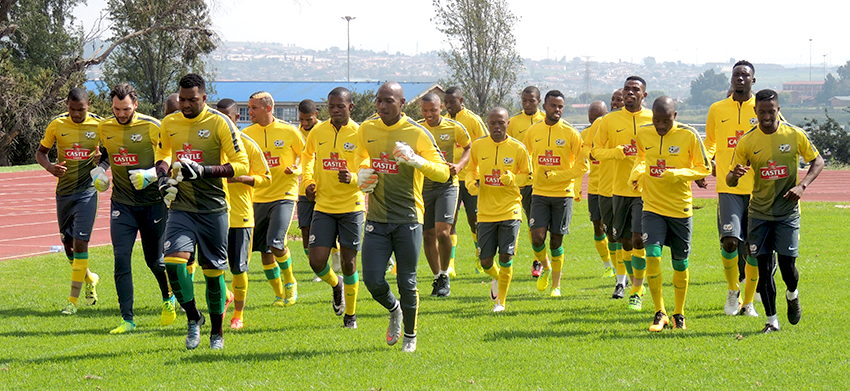 Ngcongca and Matlaba back at Bafana Bafana training