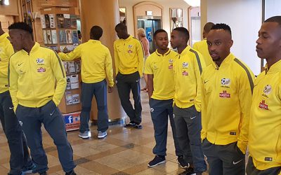 Bafana Bafana COSAFA Cup squad arrive in Windhoek
