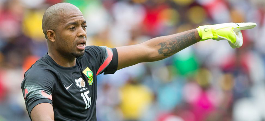 Khune and Mathoho train with the Olympic Team