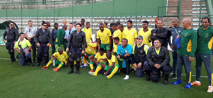 Men's Olympic team to play Brazilian Police Department