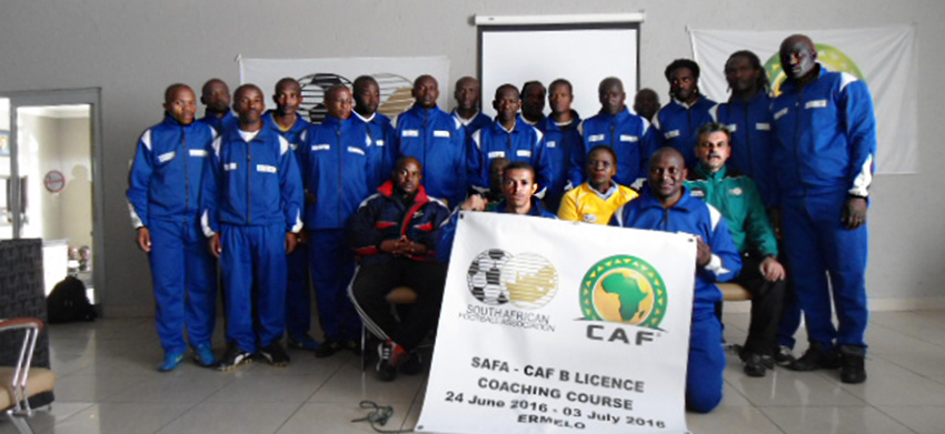 SAFA Tshwane host the SAFA/CAF B License Coaching Course