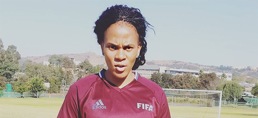 SA referee at the Women's AFCON tournament