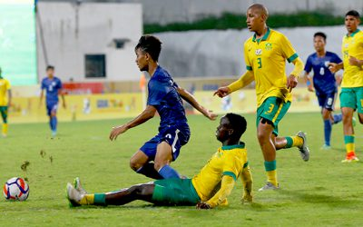 Amajimbos defeat India in opening match of BRICS u17 Football Cup