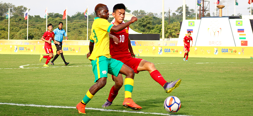 Amajimbos and China play to a draw in BRICS u17 Football Cup