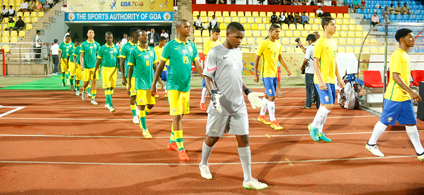 Amajimbos fall to Brazil in BRICS u17 Football Cup