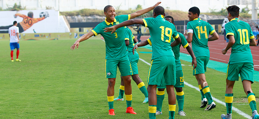 Amajimbos beat Russia to set up final against Brazil in the final of BRICS u17 Football Cup