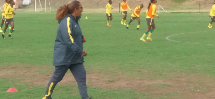 Ellis takes charge of her first Banyana Banyana training session