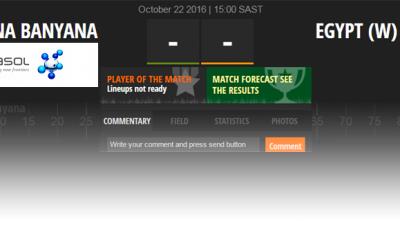 Follow Banyana Banyana v. Egypt Live on SAFA Matchcast