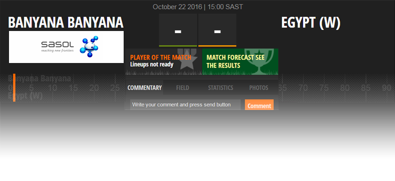 Follow Banyana Banyana v. Egypt Live on SAFA Matchcast