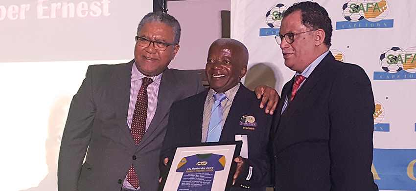 Dr Jordaan attends SAFA Cape Town annual Awards