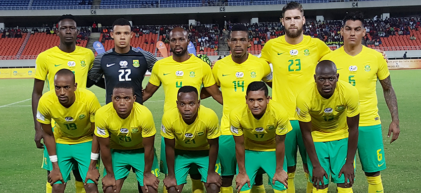 Bafana Bafana and Mambas of Mozambique play to a 1-1 draw in friendly