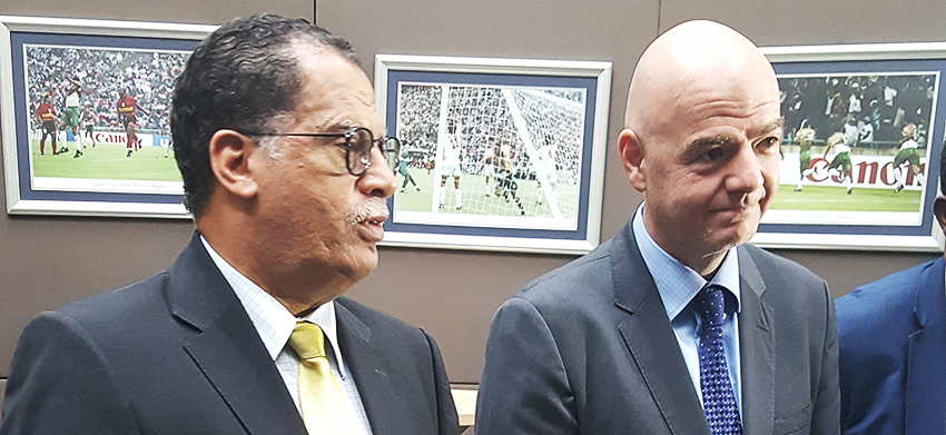 FIFA President Infantino visits SAFA House