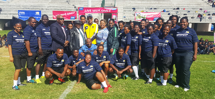SAFA VP at the Grassroots and Live Your Goals Football Festival
